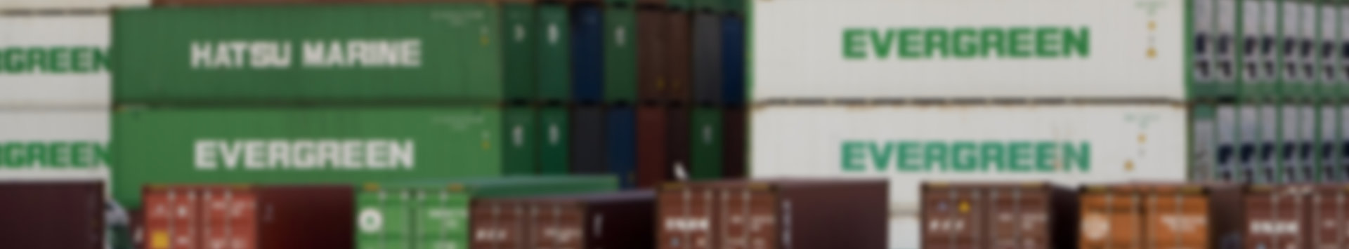 horizontal image of shipping containers